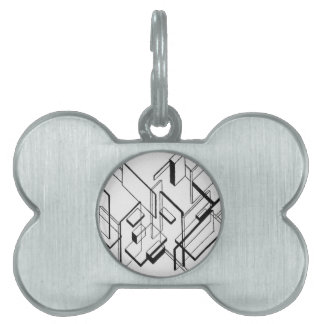 Architectural Analysis by Theo van Doesburg Pet ID Tag