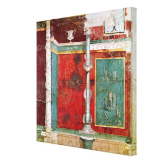 Architectural detail with a landscape gallery wrapped canvas