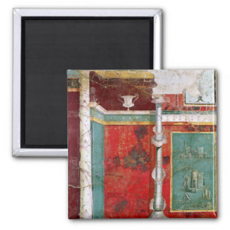 Architectural detail with a landscape square magnet
