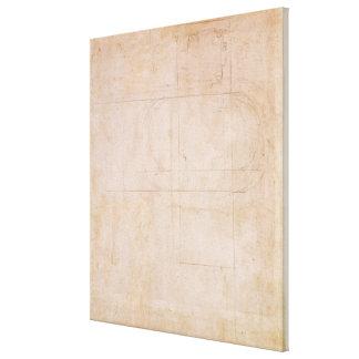 Architectural Sketch Canvas Print