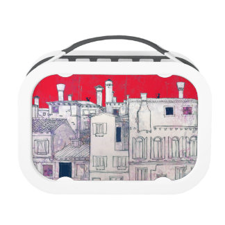 architectural sketch lunch box