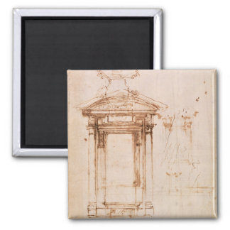 Architectural study square magnet