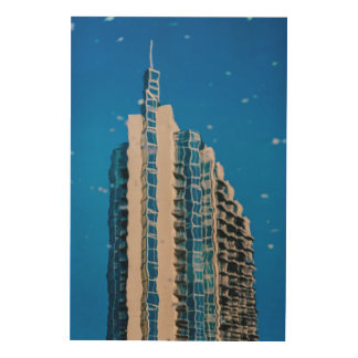 Architecture Abstraction Wood Canvas