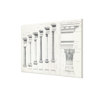 Architecture I: Orders of Architecture Canvas Print
