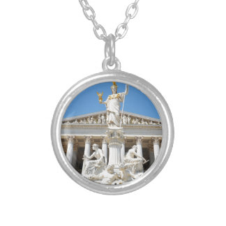 Architecture in Vienna, Austria Silver Plated Necklace