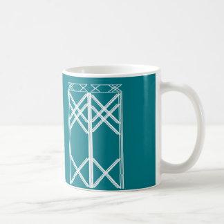 Architecture scratch art coffee mug