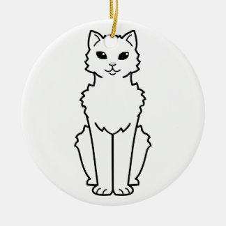 Arctic Curl Cat Cartoon Christmas Ornament