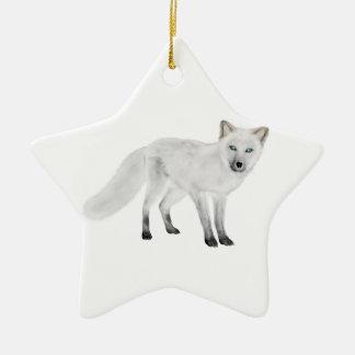 Arctic Fox Christmas Ornament