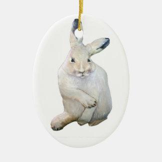 Arctic Hare Christmas Ornament