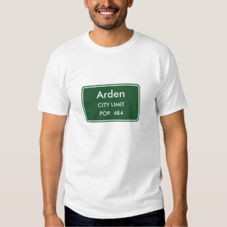 Arden Delaware City Limit Sign Tee Shirt