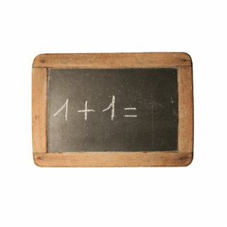 Ardoise 04 first Mathematicals Lessons Photo Sculpture Magnet