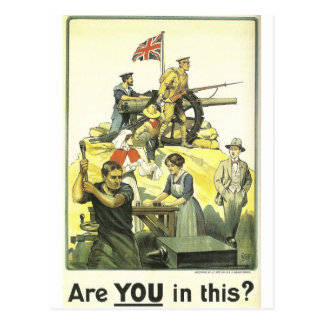 """""""Are you in this?"""" 1915, Imperial War Museum Postcard"""