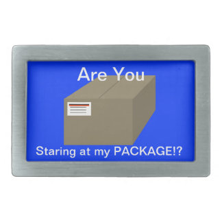 Are You Staring At My Package Men's Belt Buckle