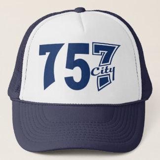Area Code 757city - Blue Trucker Hat