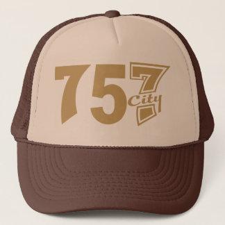 Area Code 757city - Tan Trucker Hat