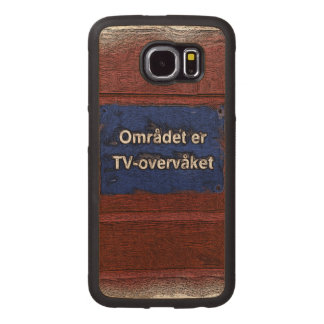 Area is tv monitored wood phone case