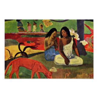 Arearea By Gauguin Paul (Best Quality) Poster