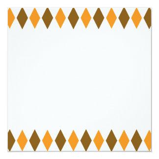 [ARG-BRO-1] Brown and orange retro argyle Card