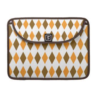 [ARG-BRO-1] Brown and orange retro argyle Sleeve For MacBooks