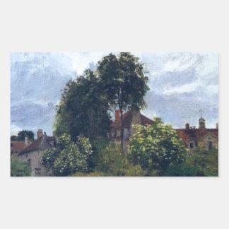 Argenteuil, the Hospice by Claude Monet Rectangular Sticker