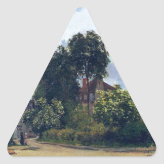 Argenteuil, the Hospice by Claude Monet Triangle Sticker