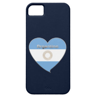 ARGENTINA flag and heart of Argentine colors Case For The iPhone 5