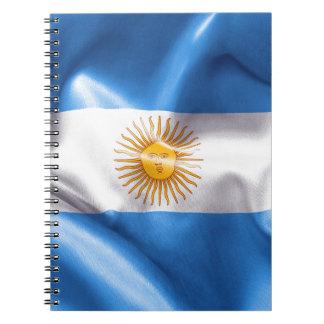 Argentina Flag Spiral Notebook
