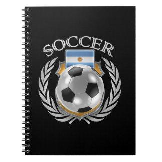 Argentina Soccer 2016 Fan Gear Notebooks