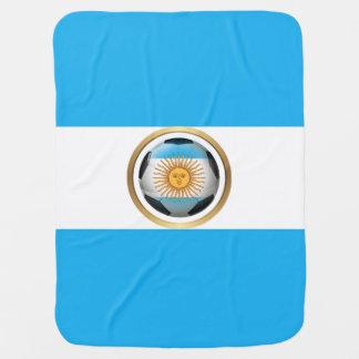 Argentina Soccer Ball Baby Blanket