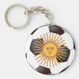 "Argentina ""Sol de Mayo"" Basic Round Button Key Ring"