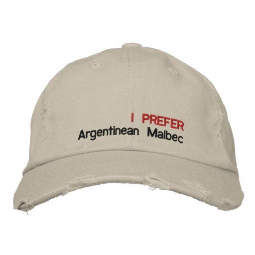 ARGENTINEAN WINES EMBROIDERED HAT
