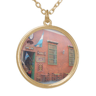 Argentinian Grill in Cartagena Colombia Gold Plated Necklace