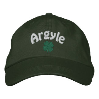 Argyle - Four Leaf Clover - Customized Embroidered Hat