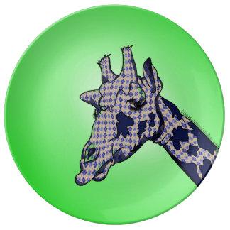 Argyle Giraffe Plate