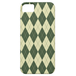 Argyle Green and White Cream Case For The iPhone 5