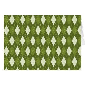 Argyle Green Card
