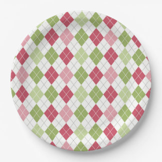 Argyle Pattern Paper Plate