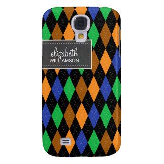 Argyle Pern (orange/black scheme) Galaxy S4 Case