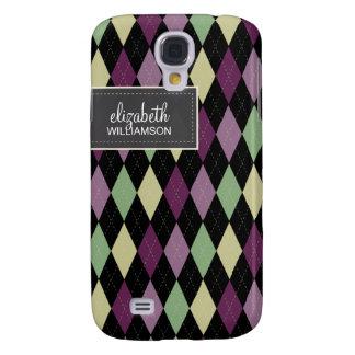 Argyle Pern (purple/black scheme) Galaxy S4 Case