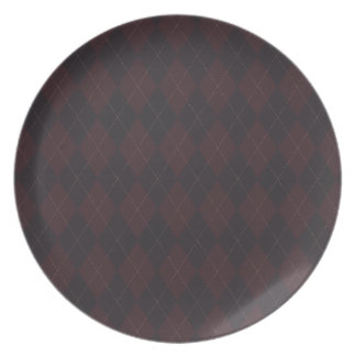Argyle Style Pattern Plate
