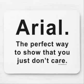 Arial Font Humour Mug Mouse Pad