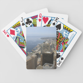 Arial View of Seattle Bicycle Playing Cards