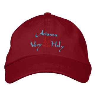 Arianna Name With Italian Meaning Green Embroidered Hat