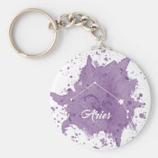 Aries Purple Keychain