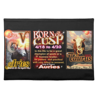 Aries Taurus zodiac Cusp by valxart Placemat