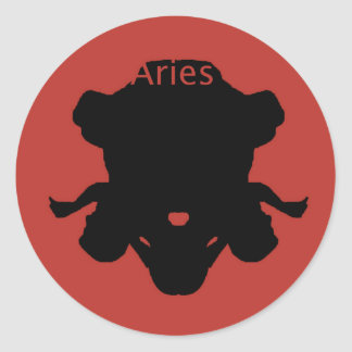 Aries Zodiac Classic Round Sticker