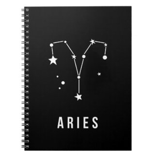 Aries Zodiac Sign Quote Notebook