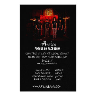 Arilia Promo Poster 14 Cm X 21.5 Cm Flyer