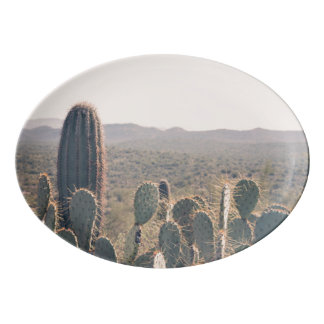 Arizona Cacti  | Serving Platter Porcelain Serving Platter