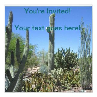 Arizona Cactus Garden 13 Cm X 13 Cm Square Invitation Card